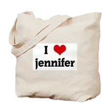 I Love jennifer Tote Bag