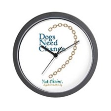 Dogs Need Change, Not Chains Wall Clock