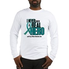 Never Knew A Hero 2 Teal (Niece) Long Sleeve T-Shi
