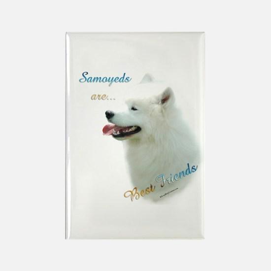 Samoyed Best Friend 1 Rectangle Magnet