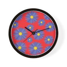 Colorful Daisy Wall Clock