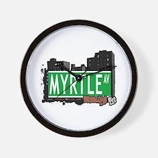 MYRTLE AV, BROOKLYN, NYC Wall Clock