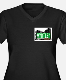MYRTLE AV, BROOKLYN, NYC Women's Plus Size V-Neck