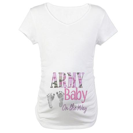Army baby girl Maternity T Shirt Army baby girl Shirt