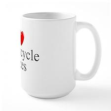 """""""I Love (Heart) Motorcycle Races"""" Mug"""