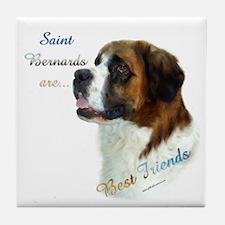 Saint Best Friend 1 Tile Coaster