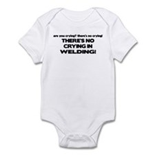 There's No Crying Welding Infant Bodysuit