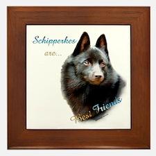 Schipperke Best Friend 1 Framed Tile