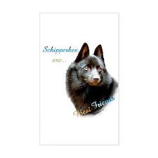 Schipperke Best Friend 1 Rectangle Decal