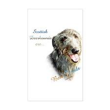 Deerhound Best Friend 1 Rectangle Decal