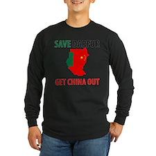 Get China Out! Long Sleeve Dark T-Shirt