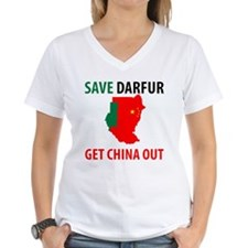 Get China Out! Women's V-Neck T-Shirt