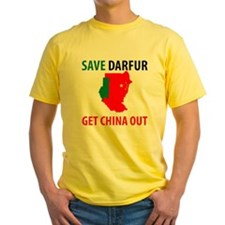 Get China Out! Yellow T-Shirt