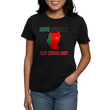 Get China Out! Women's Dark T-Shirt