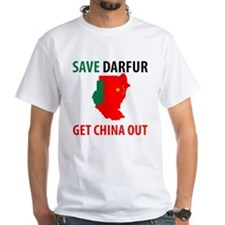 Get China Out! White T-Shirt
