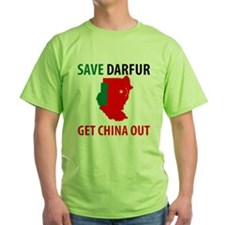 Get China Out! Green T-Shirt
