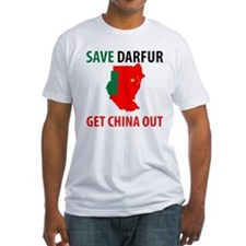 Get China Out! Fitted T-Shirt