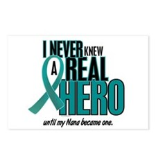 Never Knew A Hero 2 Teal (Nana) Postcards (Package