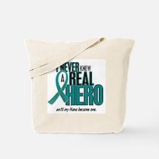 Never Knew A Hero 2 Teal (Nana) Tote Bag