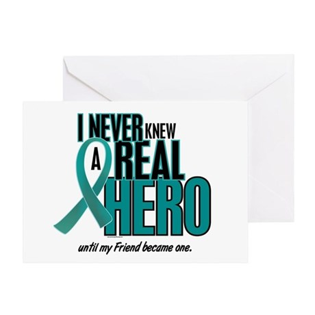 Never Knew A Hero 2 Teal (Friend) Greeting Card