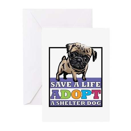 Adopt a Pug Greeting Cards (Pk of 10)
