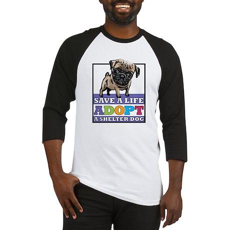 Adopt a Pug Baseball Jersey