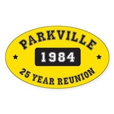 25 Year Reunion Oval Bumper Stickers