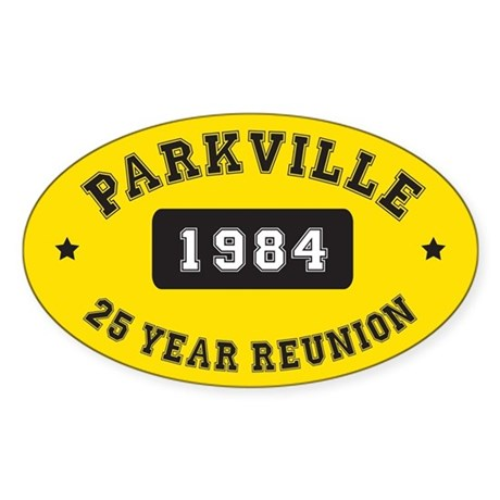 25 Year Reunion Oval Sticker