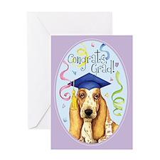 Basset Graduate Greeting Card