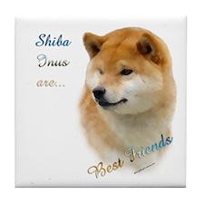 Shiba Best Friend 1 Tile Coaster