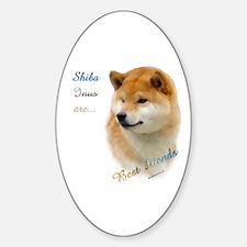 Shiba Best Friend 1 Oval Decal