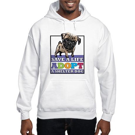 Adopt a Pug Hooded Sweatshirt