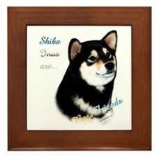 Black Shiba Best Friend 1 Framed Tile