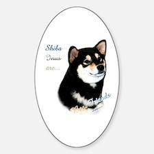 Black Shiba Best Friend 1 Oval Decal