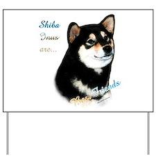 Black Shiba Best Friend 1 Yard Sign