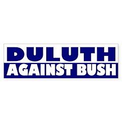 Duluth Against Bush (bumper sticker)