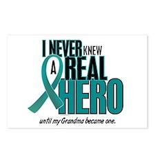 Never Knew A Hero 2 Teal (Grandma) Postcards (Pack