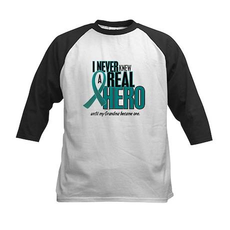Never Knew A Hero 2 Teal (Grandma) Kids Baseball J