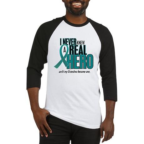 Never Knew A Hero 2 Teal (Grandma) Baseball Jersey