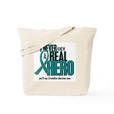 Never Knew A Hero 2 Teal (Grandma) Tote Bag