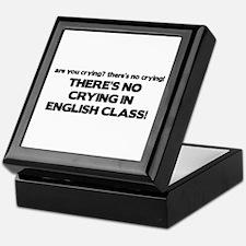 There's No Crying English Class Keepsake Box