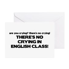 There's No Crying English Class Greeting Cards (Pk