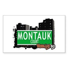 MONTAUK COURT, BROOKLYN, NYC Rectangle Decal