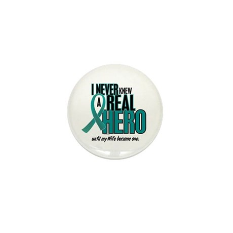 Never Knew A Hero 2 Teal (Wife) Mini Button (10 pa