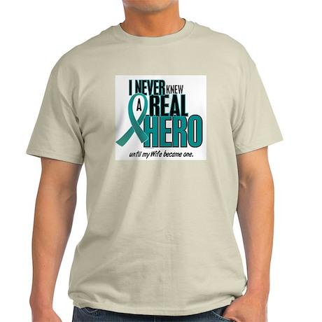 Never Knew A Hero 2 Teal (Wife) Light T-Shirt