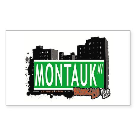 MONTAUK AV, BROOKLYN ,NYC Rectangle Sticker