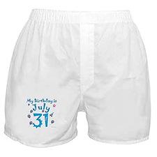 July 31st Birthday Boxer Shorts