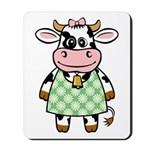 Dressed Up Cow Mousepad