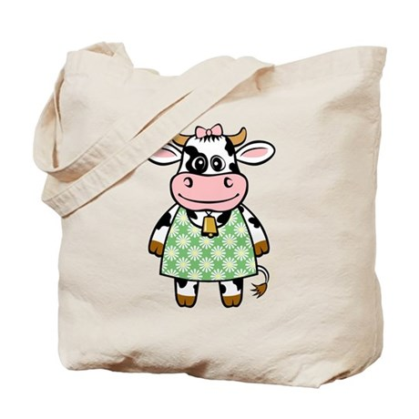 Dressed Up Cow Tote Bag