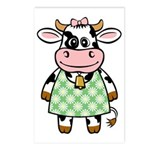Dressed Up Cow Postcards (Package of 8)